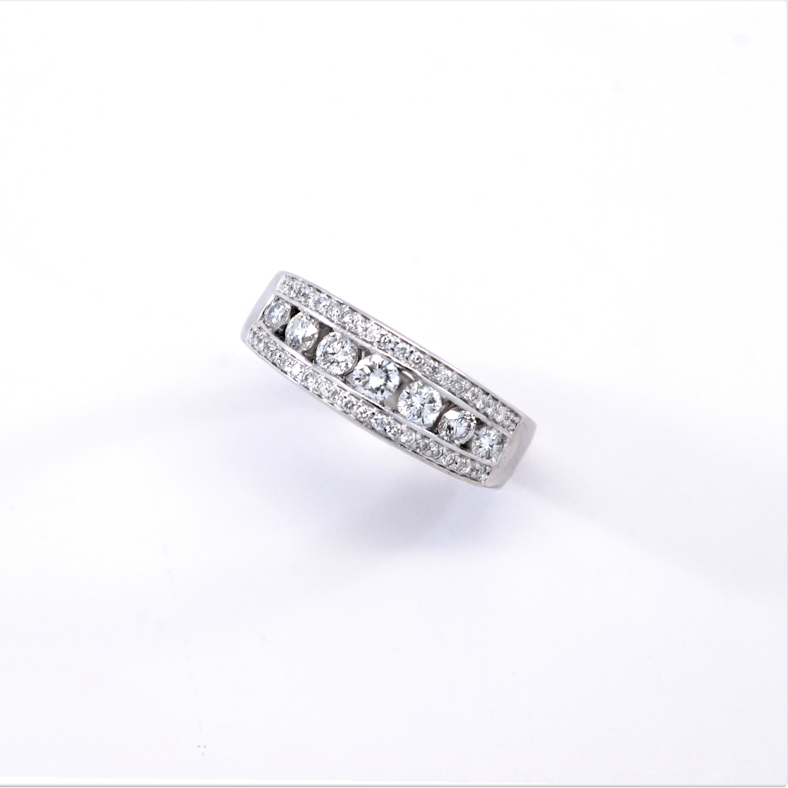 Round Diamond Anniversary Band 1Ctw 14K White Gold With Regard To Most Popular Diamond Anniversary Bands In White Gold (Gallery 13 of 25)