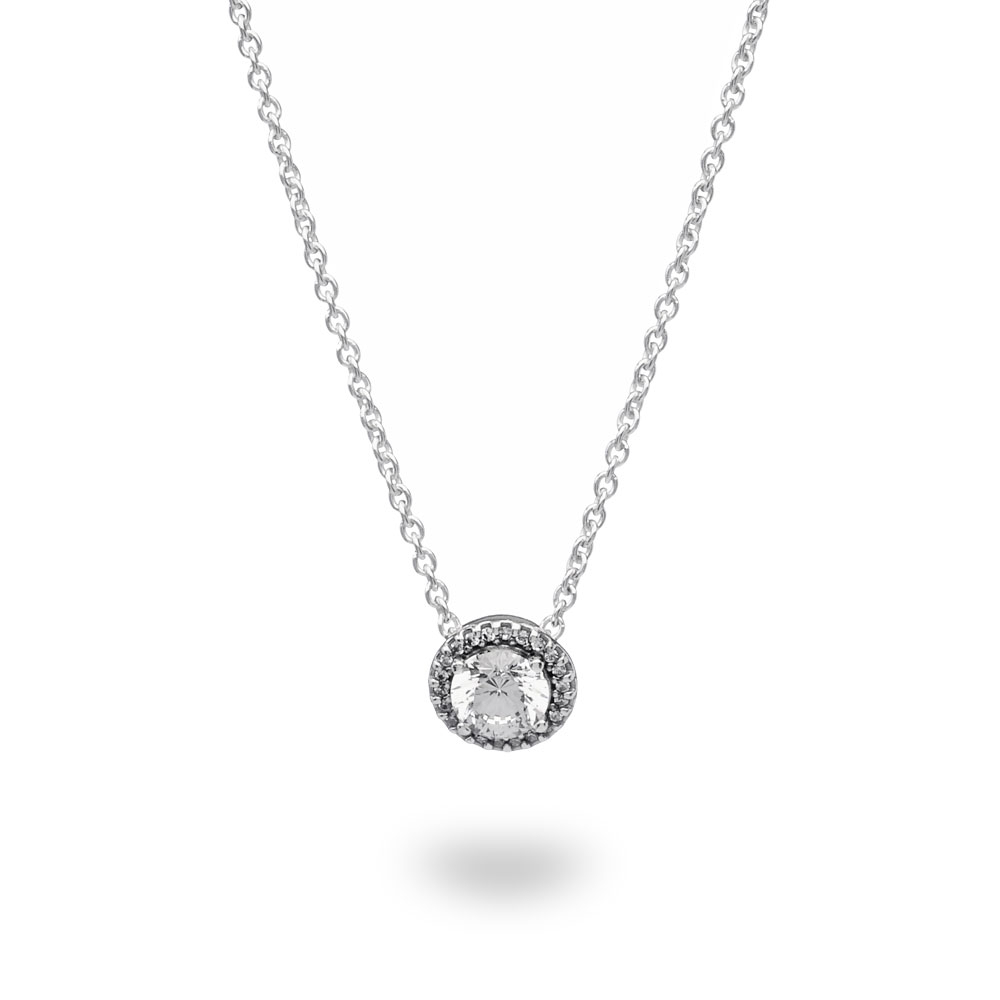 Featured Photo of Round Sparkle Halo Pendant Necklaces