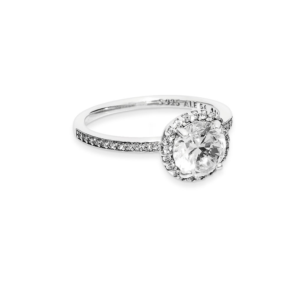 Round Sparkle Halo Ring In 2018 Round Sparkle Halo Rings (View 18 of 25)