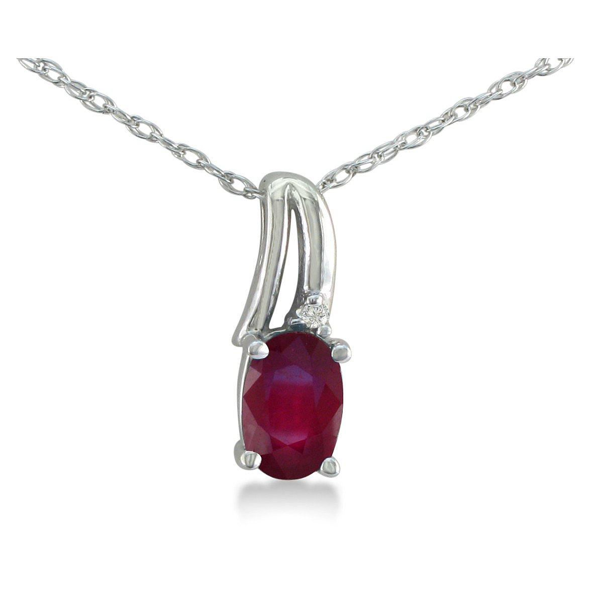 Ruby Necklace | July Birthstone | 1/2Ct Oval Shape Created Ruby And Inside Most Recently Released July Droplet Pendant, Synthetic Ruby Necklaces (View 23 of 25)