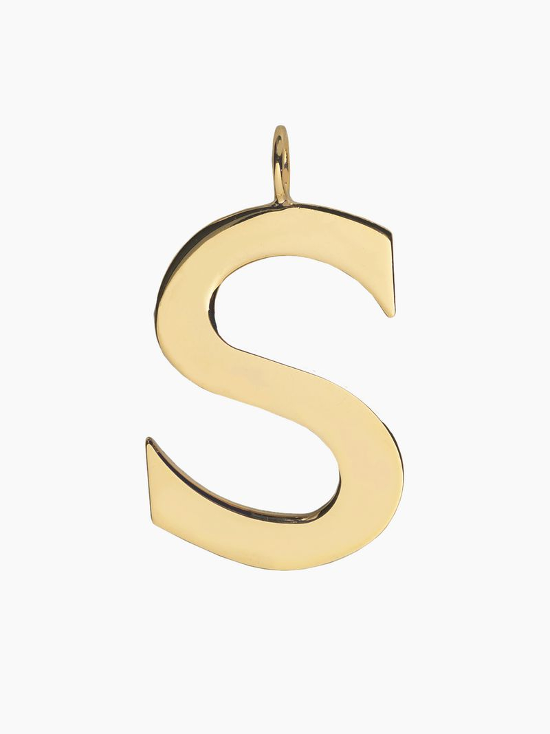 S Alphabet Necklace Pendant | Chloé Uk For Best And Newest Letter Q Alphabet Locket Element Necklaces (Gallery 23 of 26)