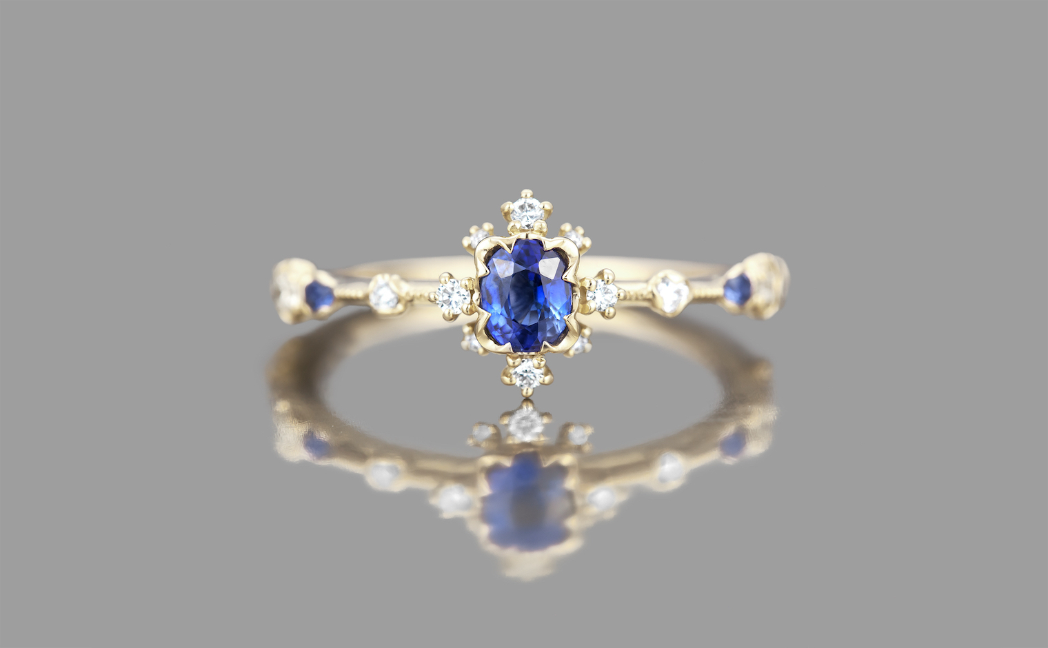 Sapphire Snowflake Ring Intended For Latest Blue Sparkling Crown Rings (Gallery 5 of 25)