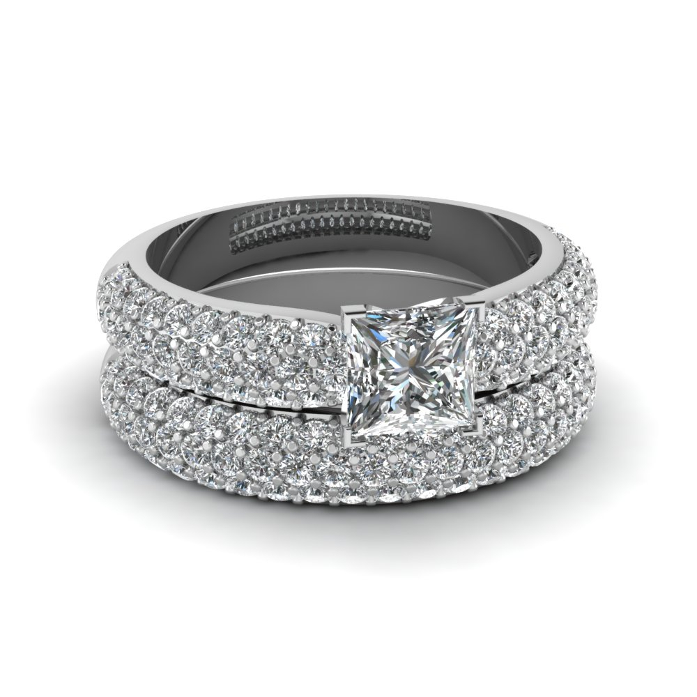 Selected Vintage Jewelry With Diamonds & Gemstones Throughout Most Recent Enhanced Black And White Diamond Three Row Anniversary Bands In White Gold (Gallery 21 of 25)