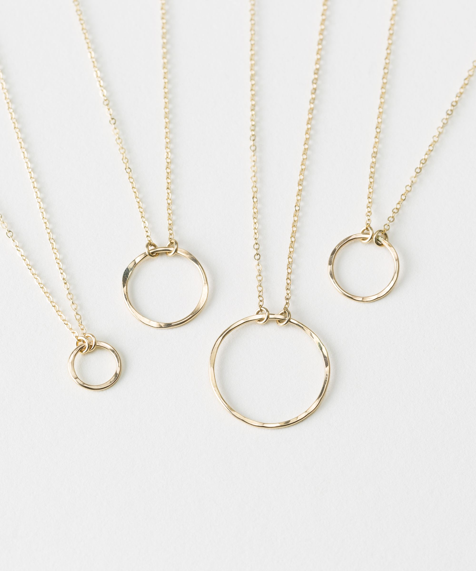 Selene Necklace In 2019 | Necklaces | Circle Necklace, Simple For Recent Circle Of Sparkle Necklaces (Gallery 10 of 25)