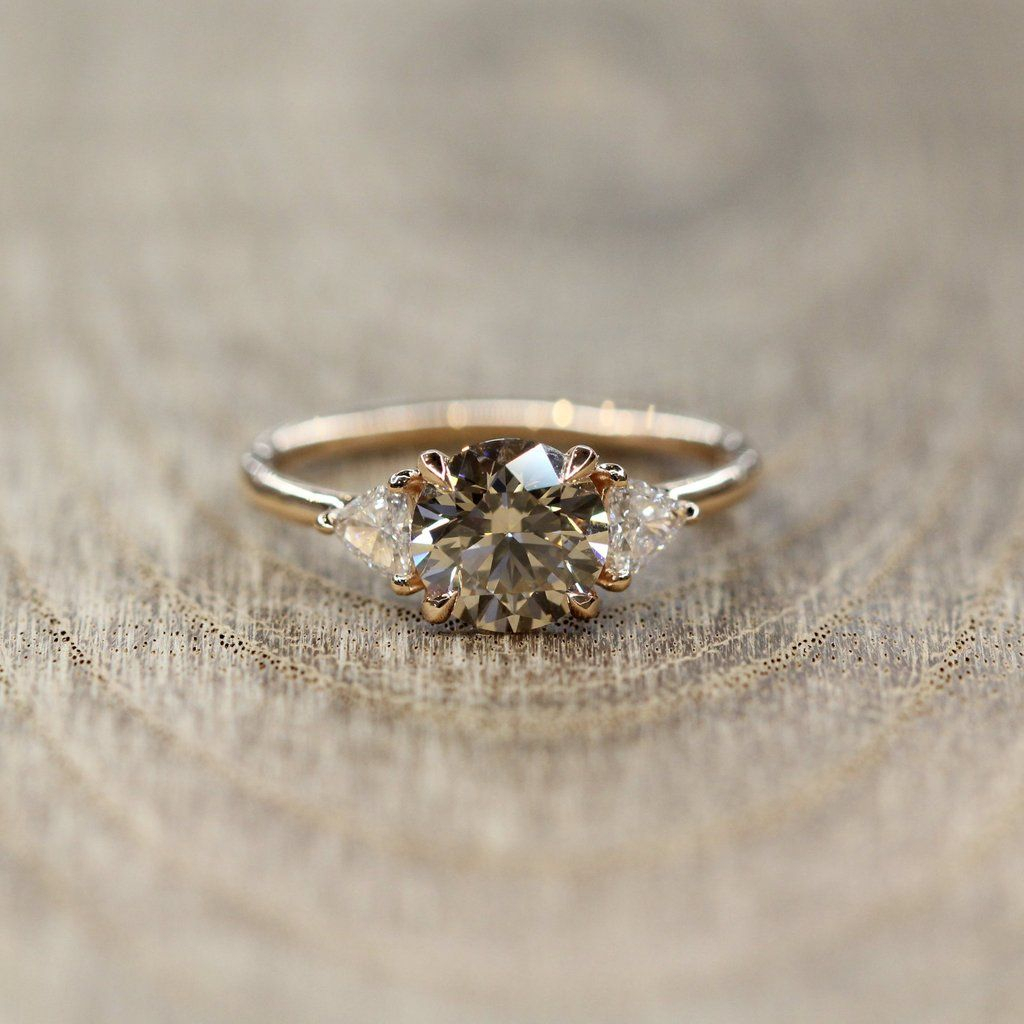 Selene | Rings In 2019 | Engagement Rings, Wedding Rings Inside Recent Champagne And White Diamond Edge Anniversary Bands In Rose Gold (View 8 of 25)