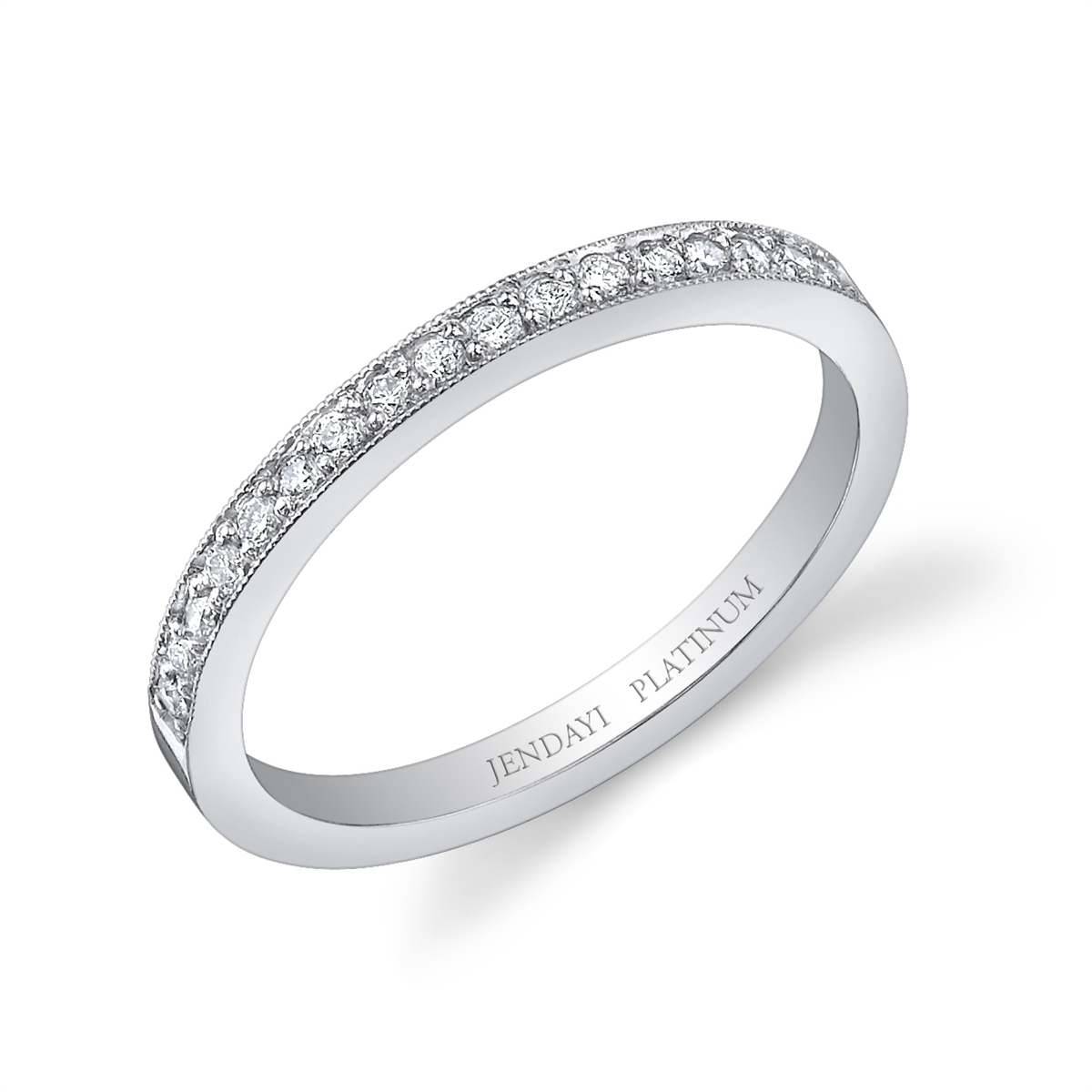 Selisa Pave Platinum Wedding / Anniversary Band Pertaining To Most Recently Released Diamond Anniversary Bands In Platinum (Gallery 3 of 25)