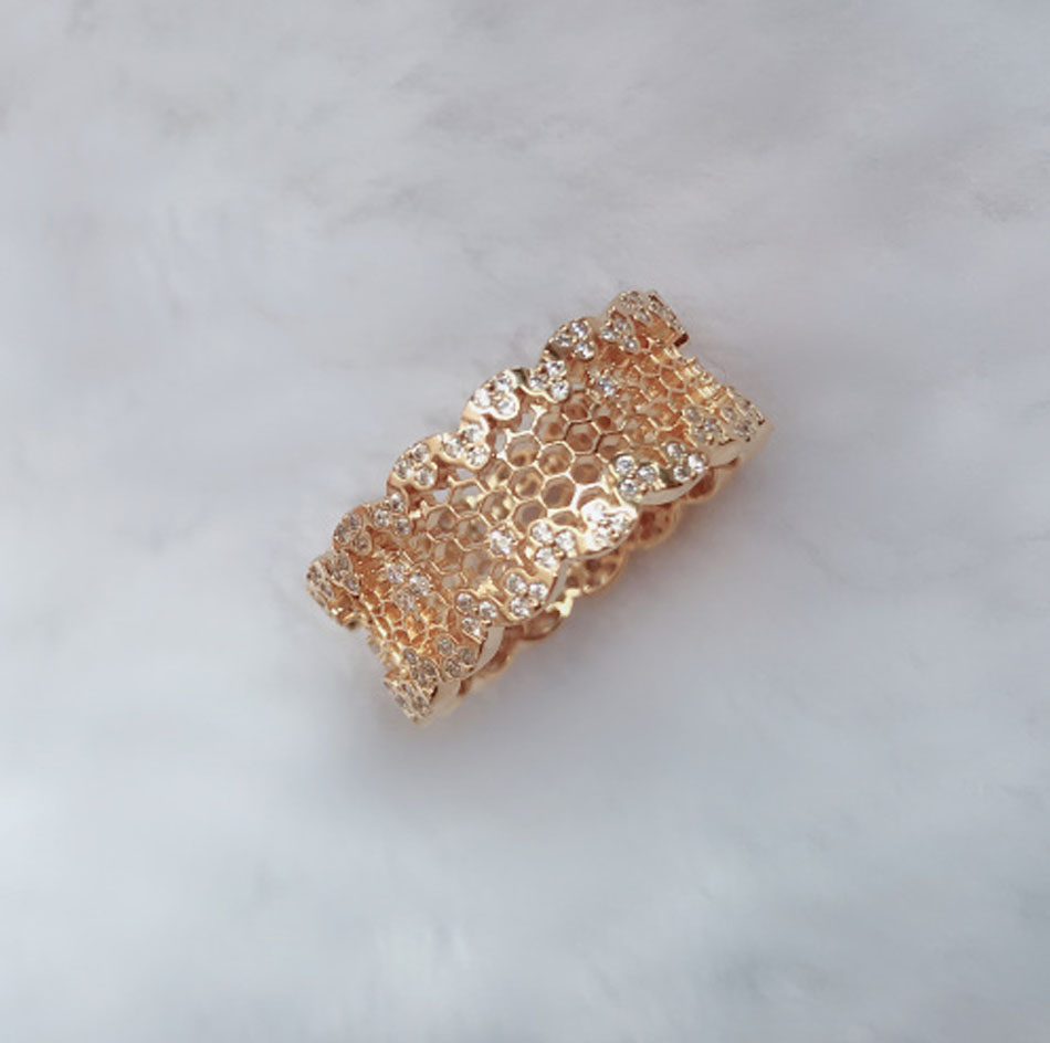 $Seoproductname For Current Honeycomb Lace Rings (View 1 of 25)