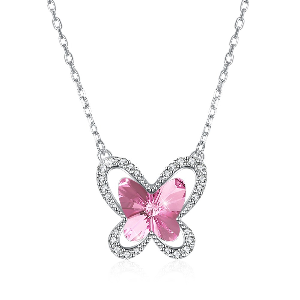 $Seoproductname Throughout Recent Pink Butterfly Locket Element Necklaces (View 4 of 25)
