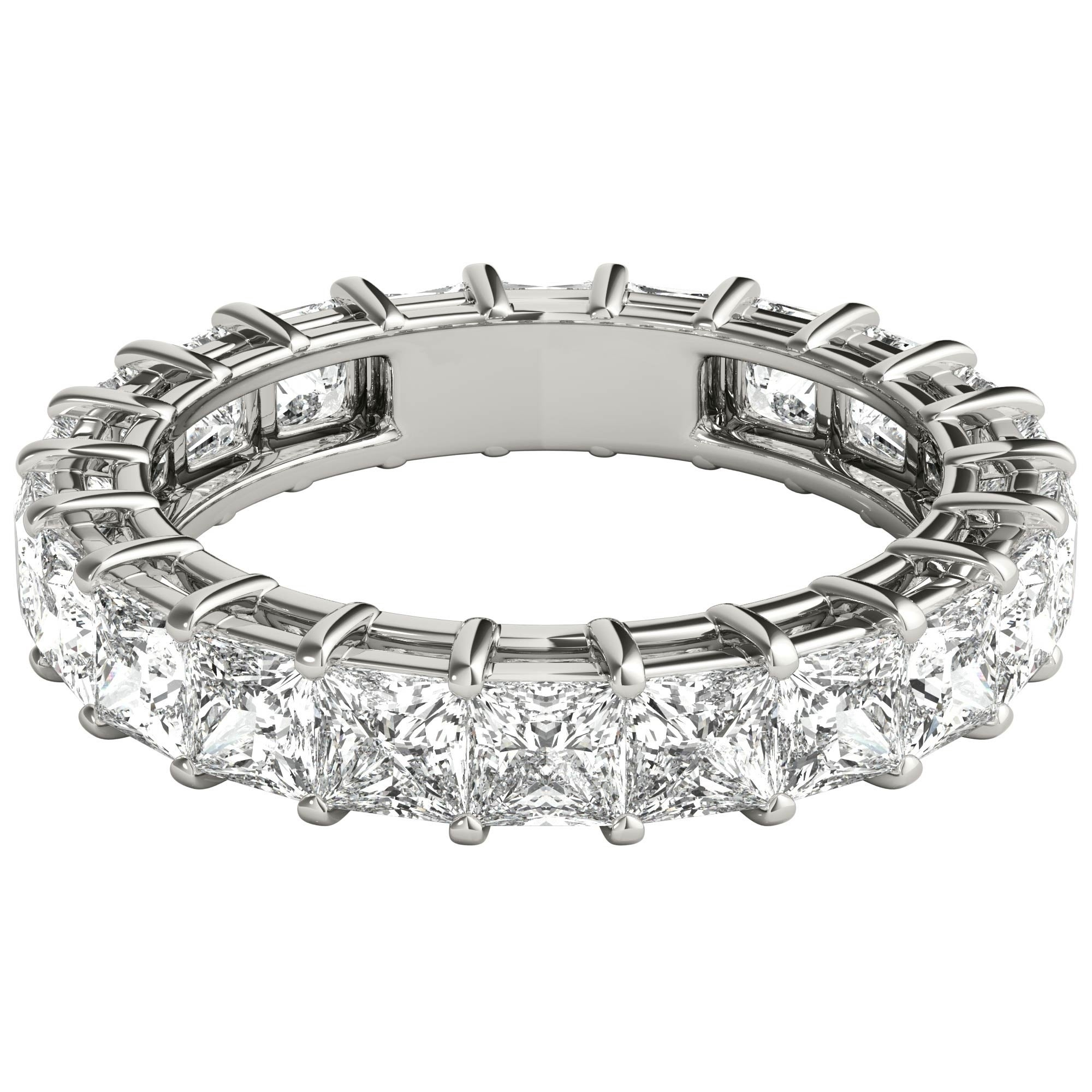 Seraphina 18K White Gold 5 1/2Ct Tdw Princess Diamond Eternity Ring With Regard To 2019 Celebration Ideal 1Diamond Five Stone Anniversary Bands In White Gold (View 20 of 25)
