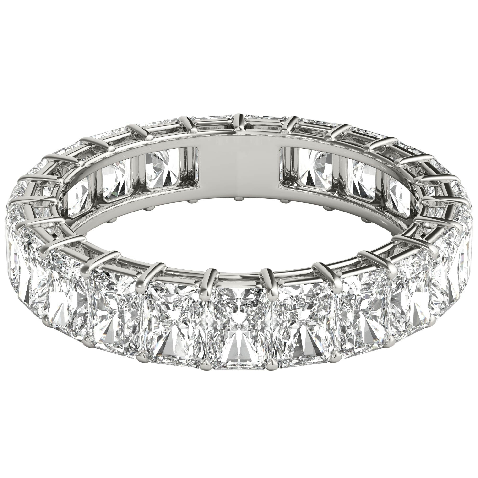 Seraphina 18K White Gold 6Ct Tdw Radiant Cut Diamond Eternity Ring Regarding Most Recent Celebration Ideal 1Diamond Five Stone Anniversary Bands In White Gold (View 21 of 25)