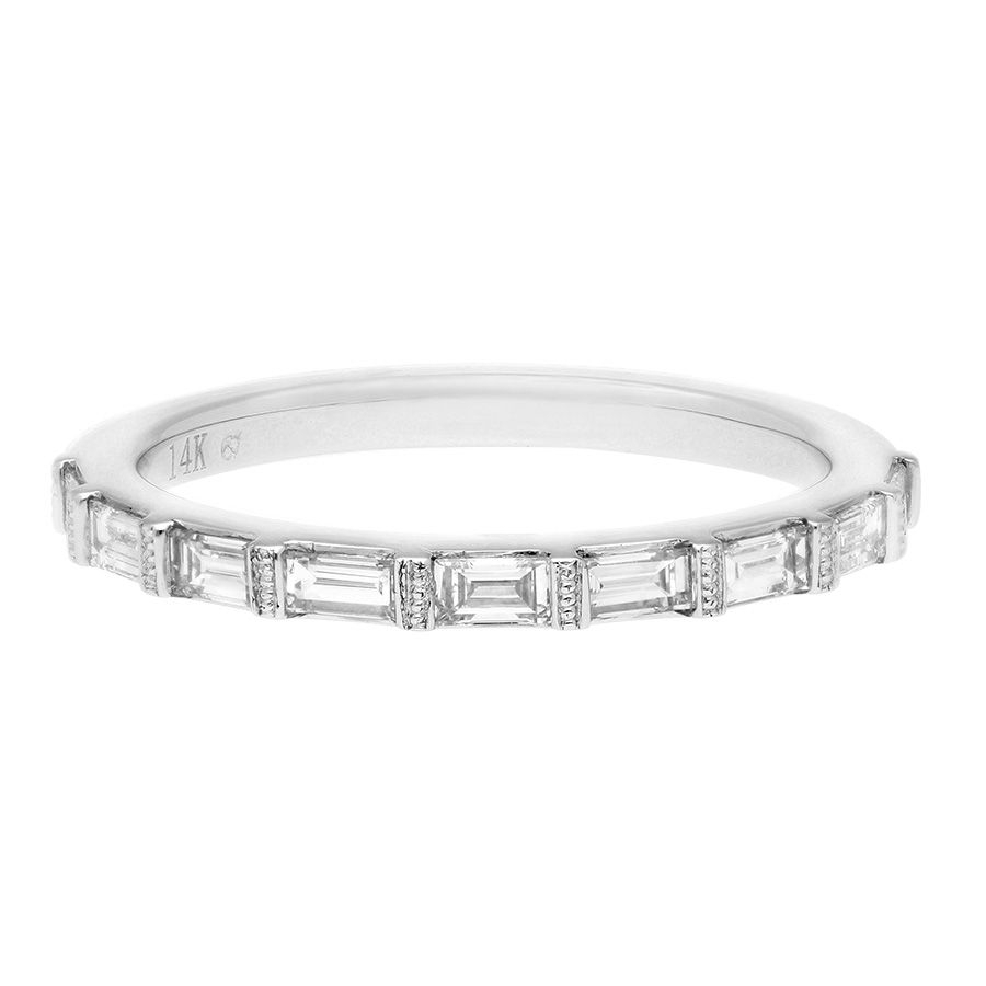 Sereena Wedding Band With Baguette Diamonds In 14K White Gold Intended For Recent Baguette Diamond Anniversary Bands In White Gold (Gallery 2 of 25)