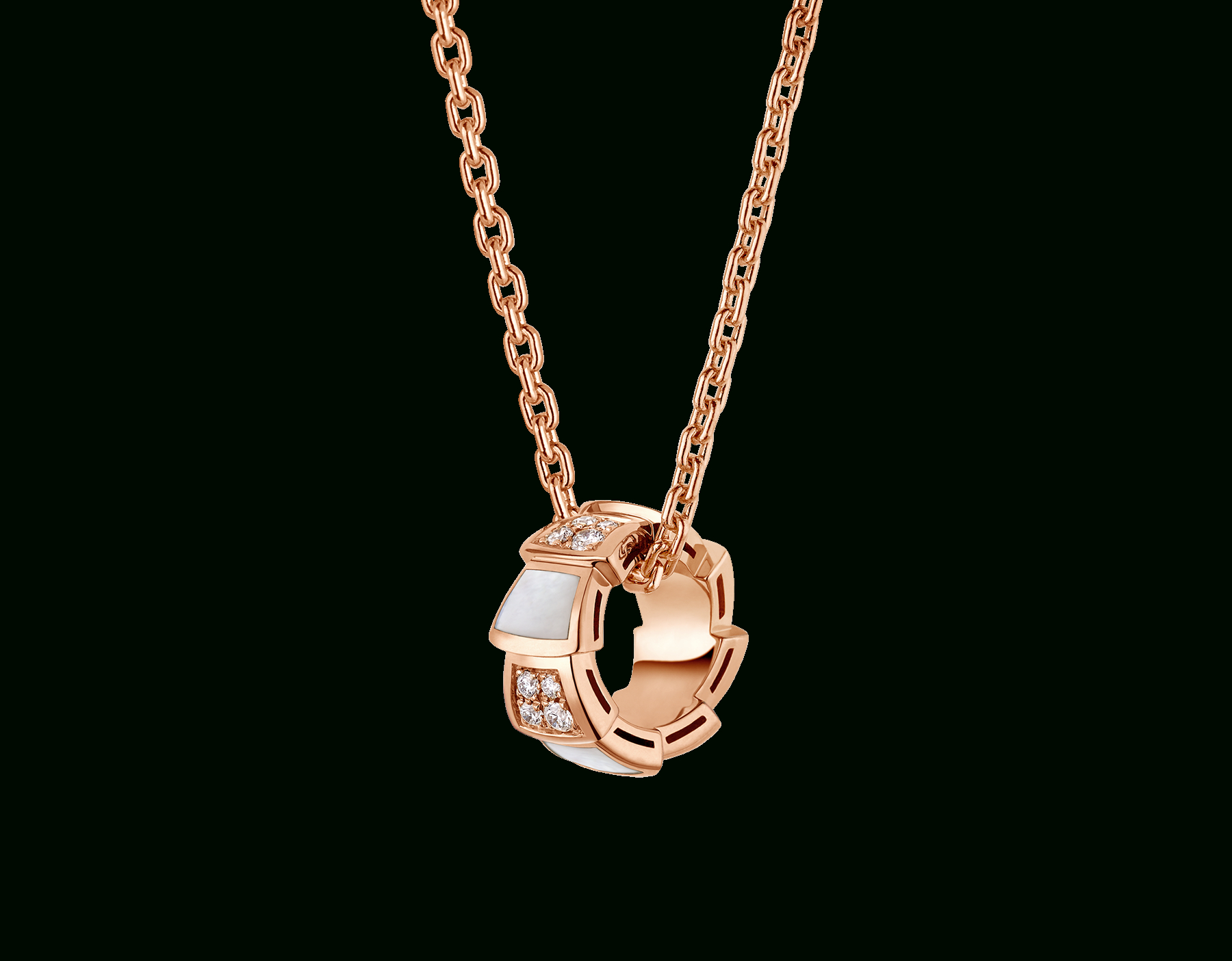 Serpenti Necklace 357095 | Bvlgari Throughout Recent Pavé Locket Element Necklaces (Gallery 9 of 25)