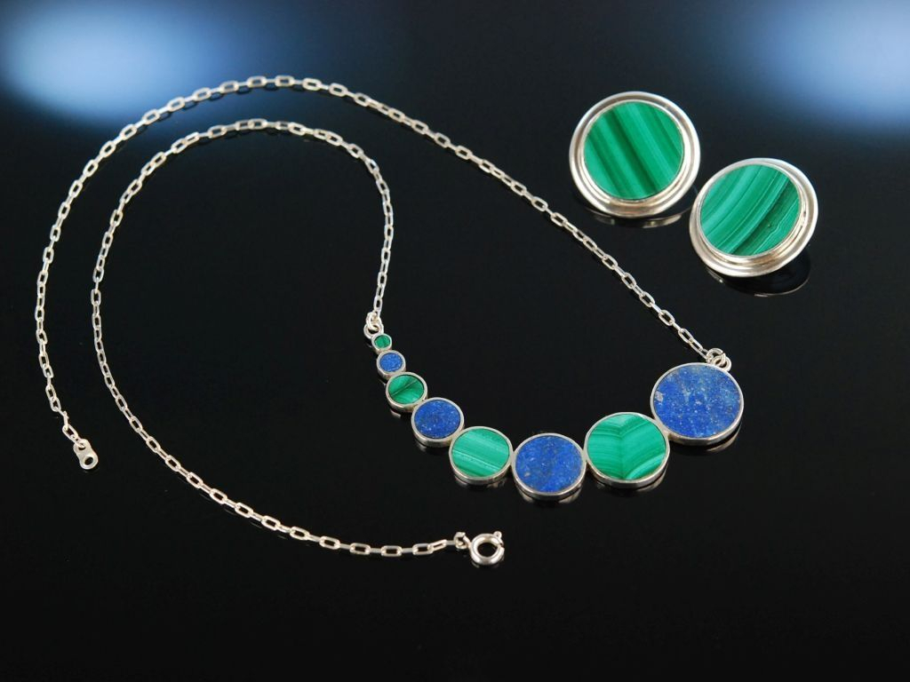 Seventies Vintage Necklace And Earrings! Vintage Collier Und Within Most Recent Vintage Circle Collier Necklaces (Gallery 10 of 25)