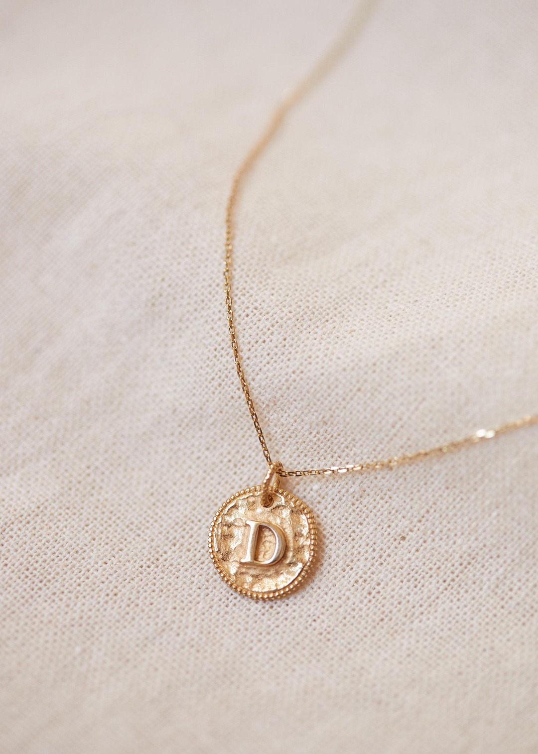 Sézane – Sara Pendant – Letters A To H With 2020 Letter F Alphabet Locket Element Necklaces (View 19 of 25)