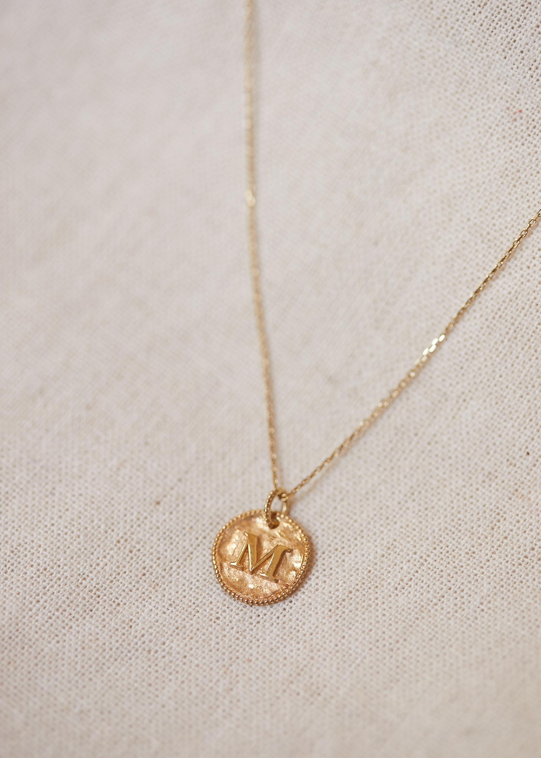 Sézane – Sara Pendant – Letters I To P Within Most Popular Letter K Alphabet Locket Element Necklaces (View 14 of 25)