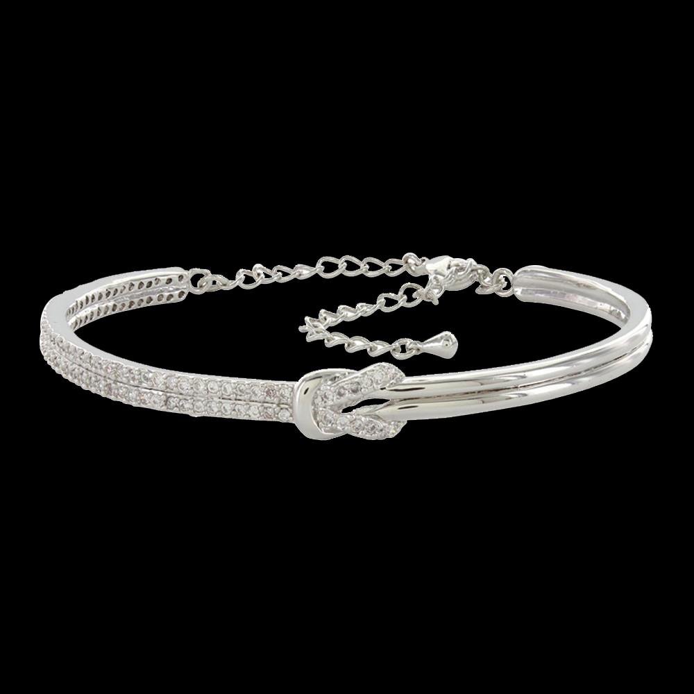 Shimmering Knot Bangle (Bc3041) Regarding 2018 Shimmering Knot Rings (Gallery 25 of 25)