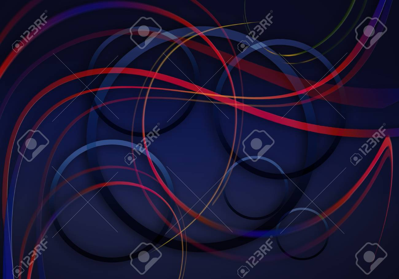 Shining Blue Background With Satin Twisted Red Blue Stripes And. (View 21 of 25)