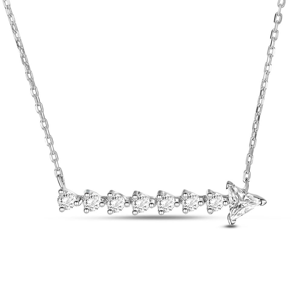 Shining Cz Arrow Necklace–Tinysand With Regard To Newest Sparkling Arrow Necklaces (Gallery 19 of 25)