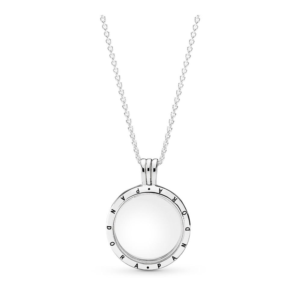 Shop Cheap Pandora Floating Locket Necklace – Medium Sterling Silver For Current Disney Sparkling Mickey Icon Petite Locket Charm Necklaces (Gallery 24 of 25)