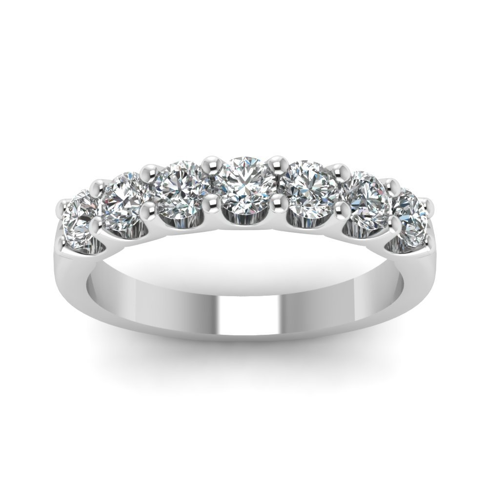 Shop Our Diamond Bands – Wedding Rings | Fascinating Diamonds Intended For Latest Diamond Vintage Style Seven Stone Anniversary Bands In White Gold (View 16 of 25)