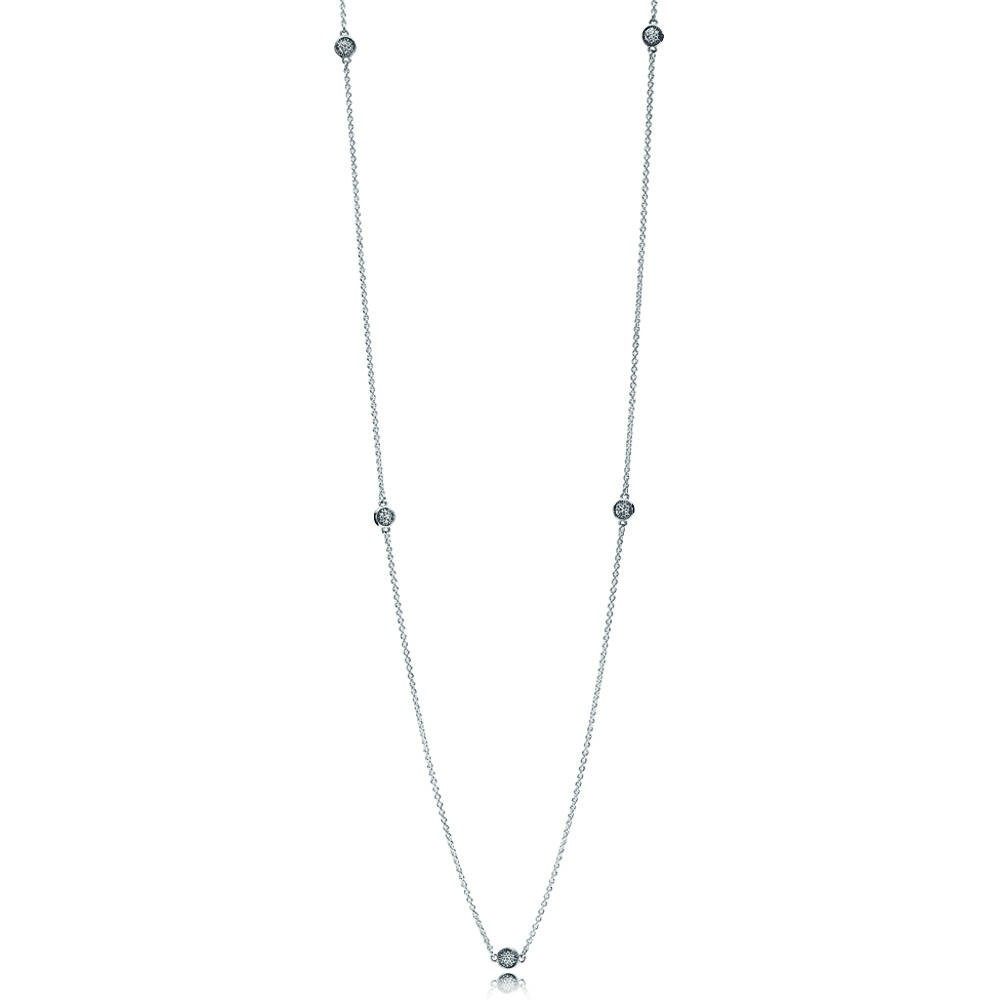 Shop Pandora Autumn Collection 2018 Dazzling Dainty Droplets In Latest August Droplet Pendant Necklaces (Gallery 19 of 25)