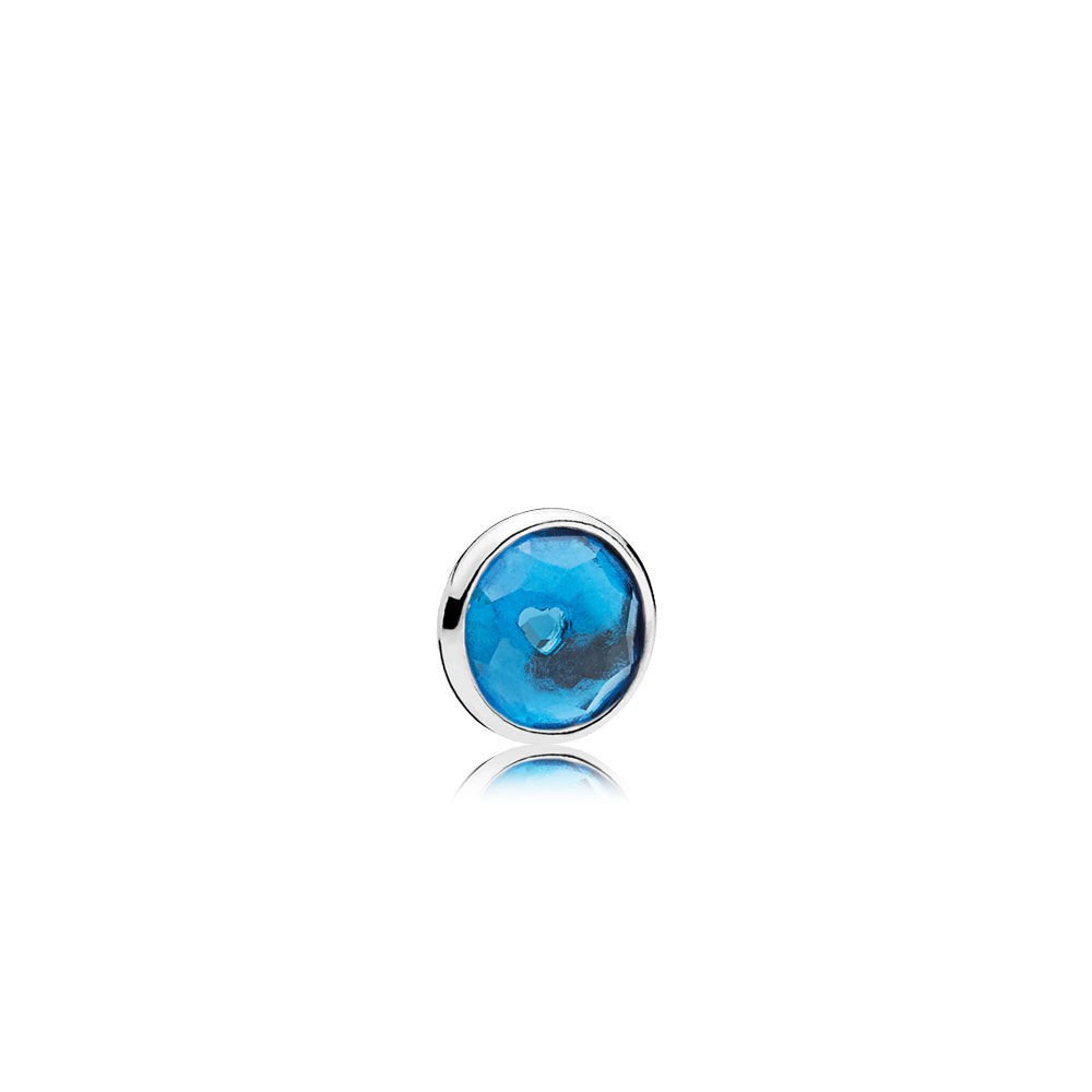 Shop Pandora Autumn Collection 2018 December Droplet Petite Locket With Regard To Latest Baby Blue Enamel Blue Heart Petite Locket Charm Necklaces (View 11 of 25)