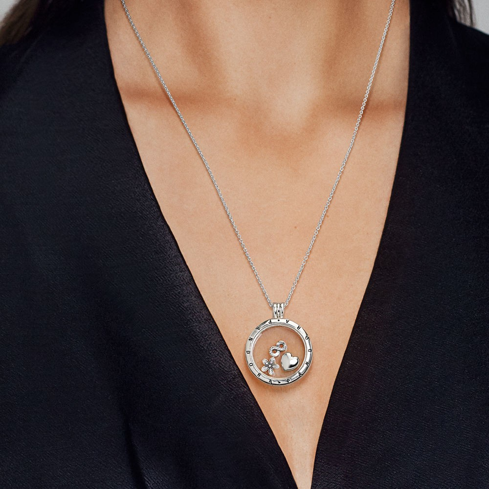 Shop Pandora Autumn Collection 2018 Floating Locket,large,sapphire In Most Recently Released Pandora Lockets Logo Dangle Charm Necklaces (Gallery 19 of 25)