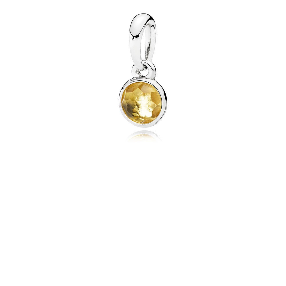 Shop Pandora Autumn Collection 2018 November Droplet Pendant,citrine Intended For Most Popular November Droplet Pendant Necklaces (View 2 of 25)