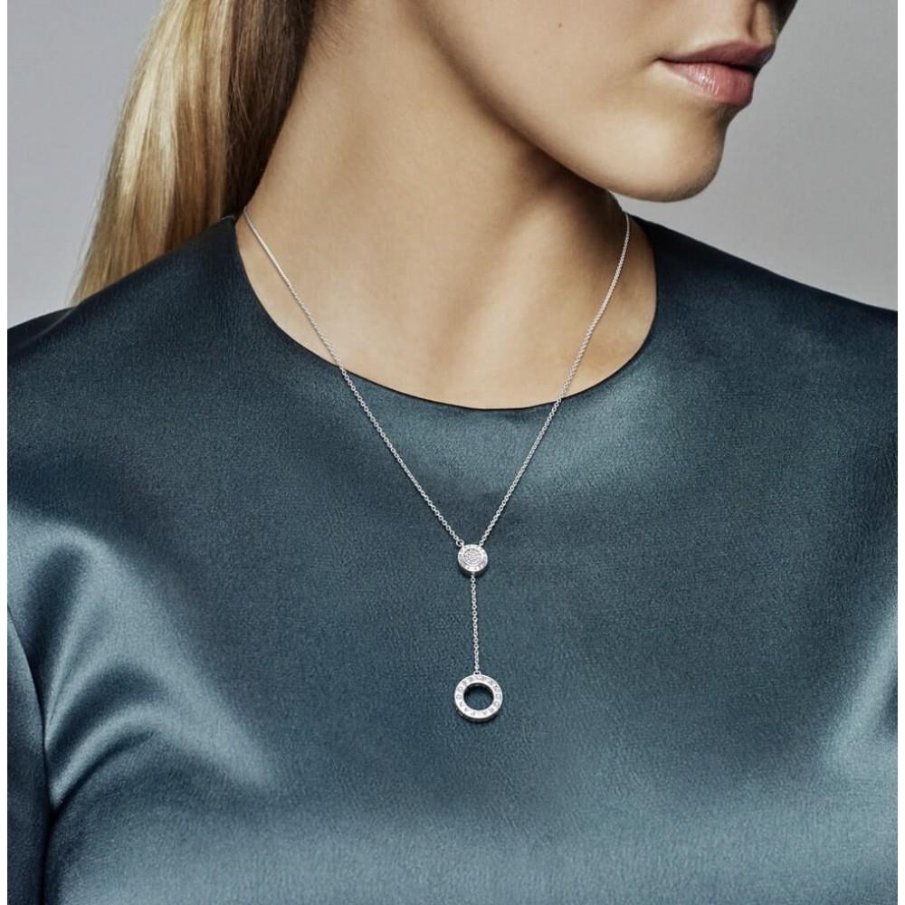 Shop Pandora Autumn Collection 2018 Signature Necklace,clear Cz In Most Current Pandora Logo Pavé Pendant Necklaces (View 24 of 25)