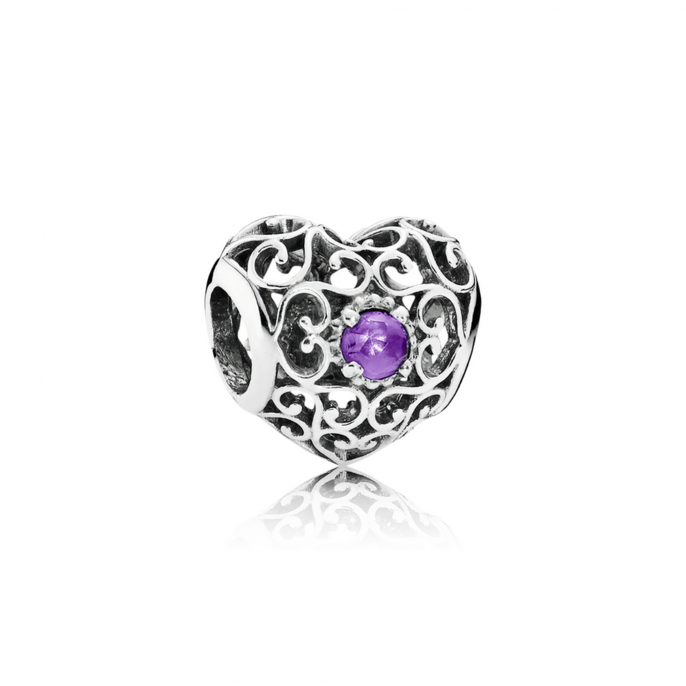 Shop Pandora New Autumn Collection 2018 February Signature Heart Intended For Most Recently Released Faceted Locket Dangle Charm, Synthetic Amethyst Necklaces (View 21 of 25)