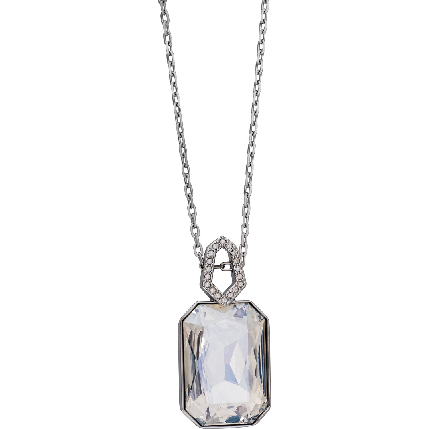 Shop Swarovski Elements Evanescent 5069284 Ruthenium Plated Crystal Within Current Pavé Locket Element Necklaces (Gallery 17 of 25)