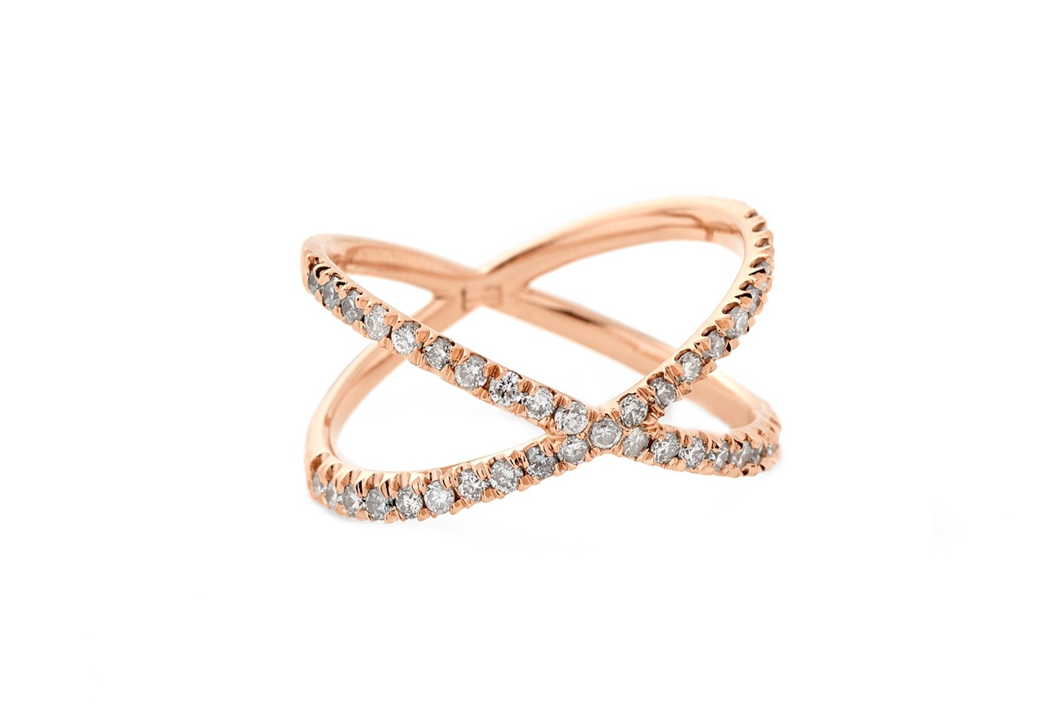 Shorty Ring Champagne Diamondseva Fehren – Fine With Current Champagne And White Diamond Edge Anniversary Bands In Rose Gold (View 19 of 25)