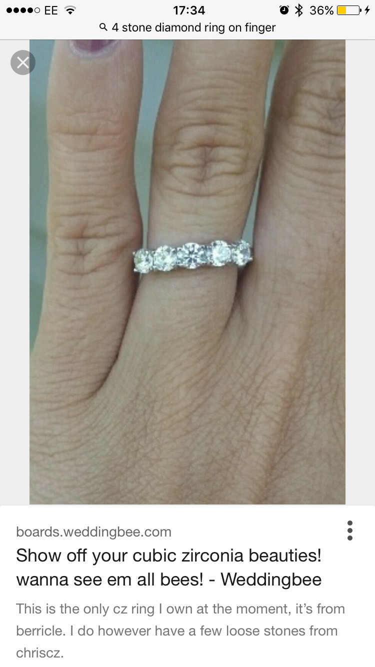 Show Me Your Eternity Ring! | Mumsnet Inside Current Diamond Bold Five Stone Anniversary Bands In White Gold (Gallery 19 of 25)