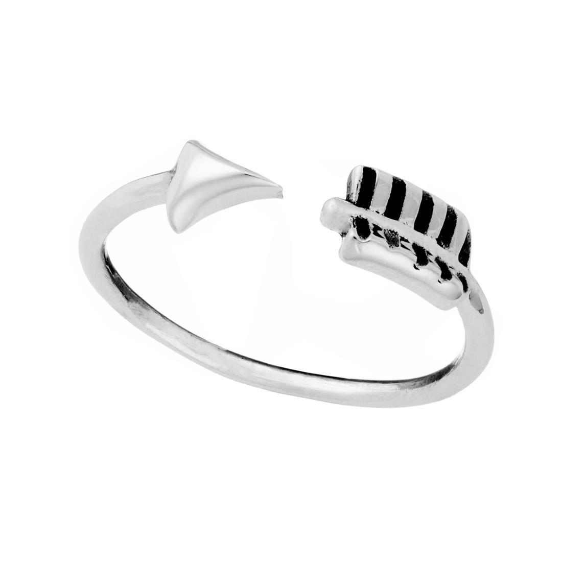 Silver Arrow Wraparound Adjustable Ring – 81Stgeneration With Regard To 2018 Wrap Around Arrow Rings (Gallery 9 of 25)