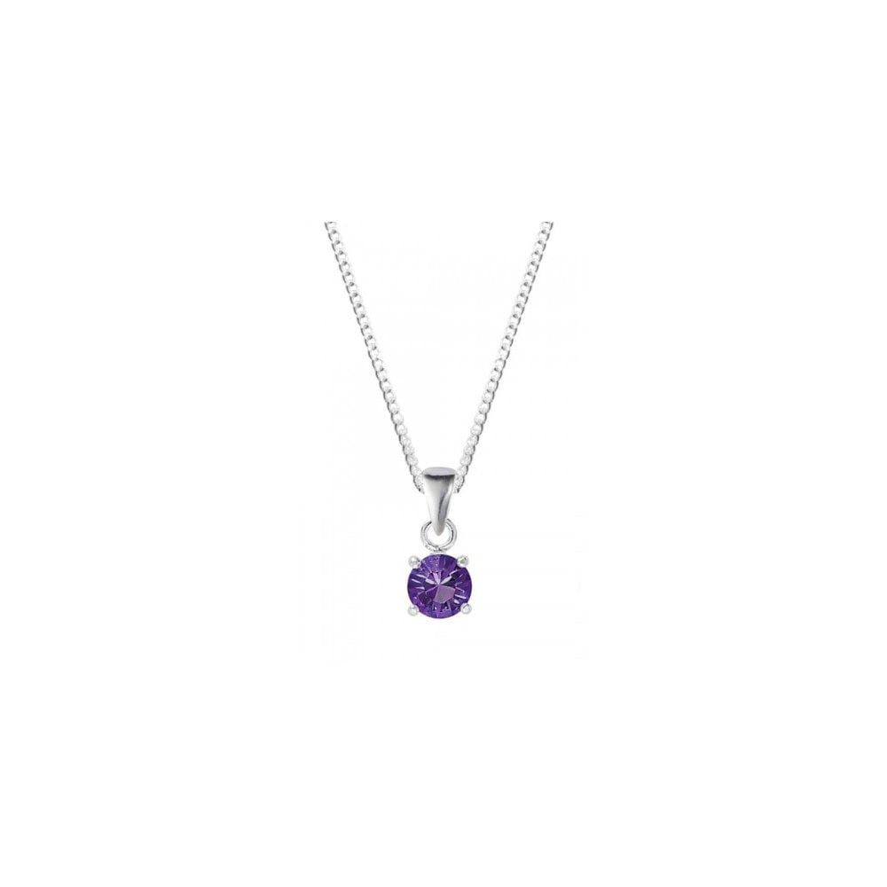 Silver February Birthstone Necklace With Swarovski Elements In 2019 Purple February Birthstone Locket Element Necklaces (Gallery 3 of 25)