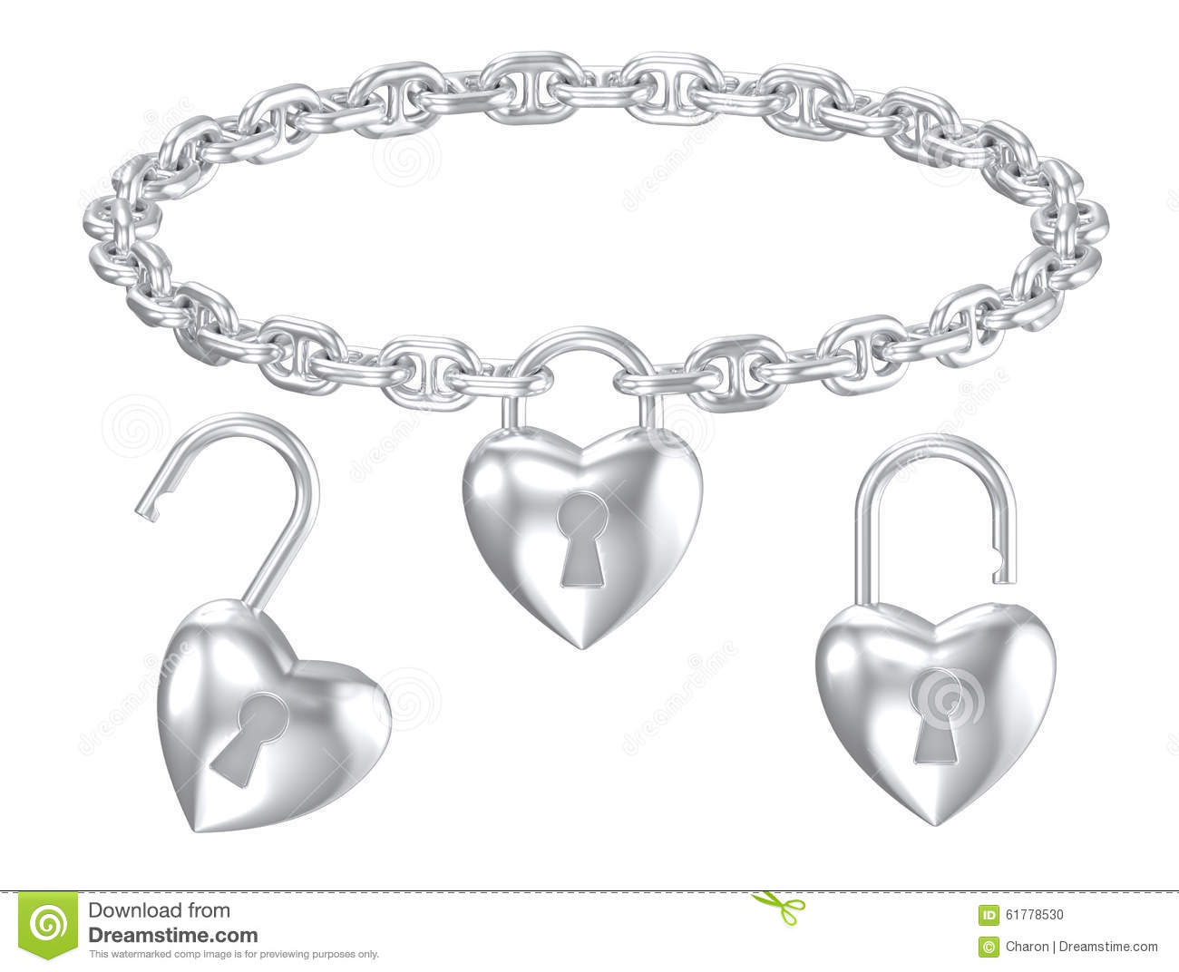 Silver Heart Lock Pendant Isolated Necklace Stock Photo In Most Recently Released Heart Padlock Locket Element Necklaces (Gallery 10 of 25)