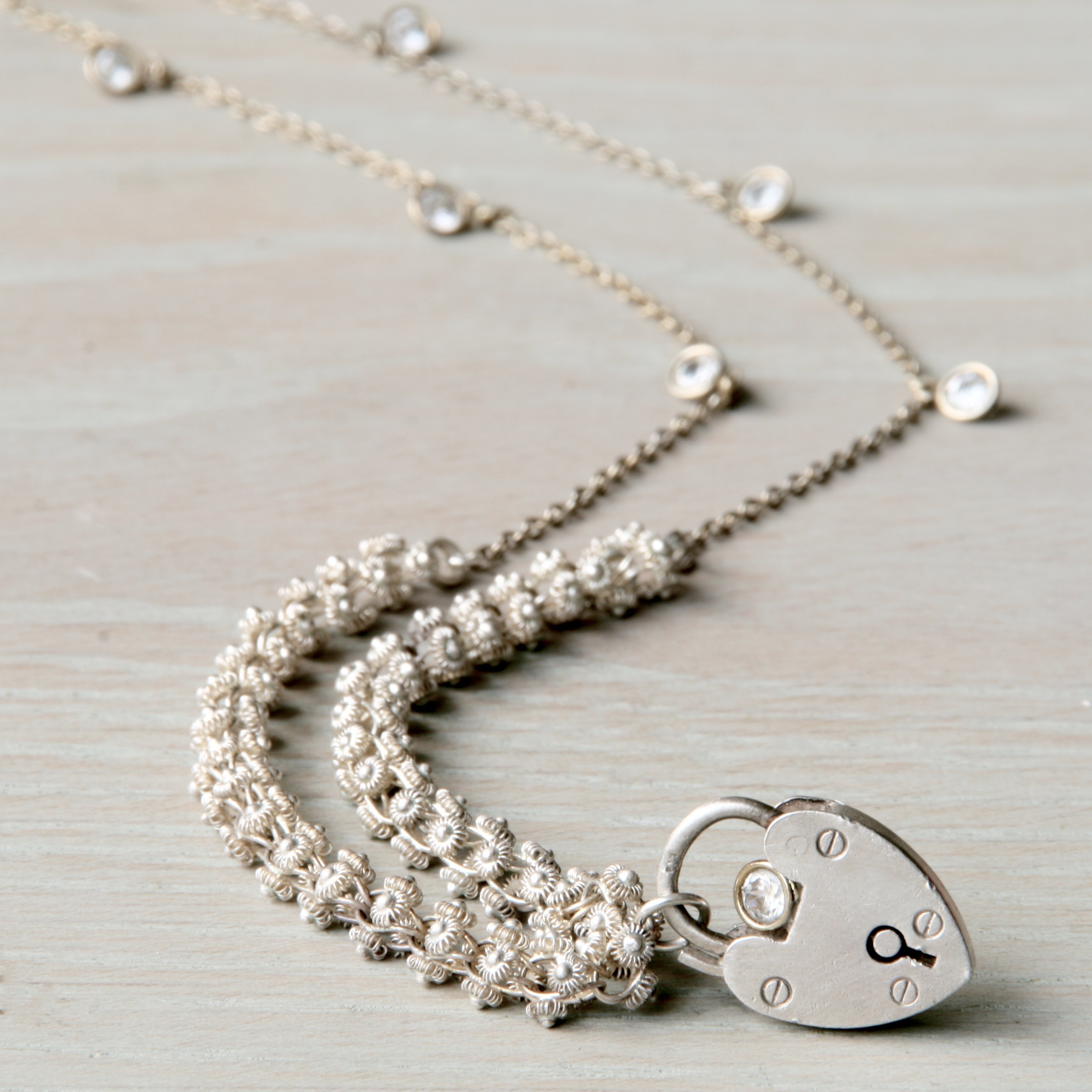 Silver Heart Padlock Charm Necklace Inside Most Recently Released Ornate Hearts Tassel Necklaces (Gallery 23 of 25)