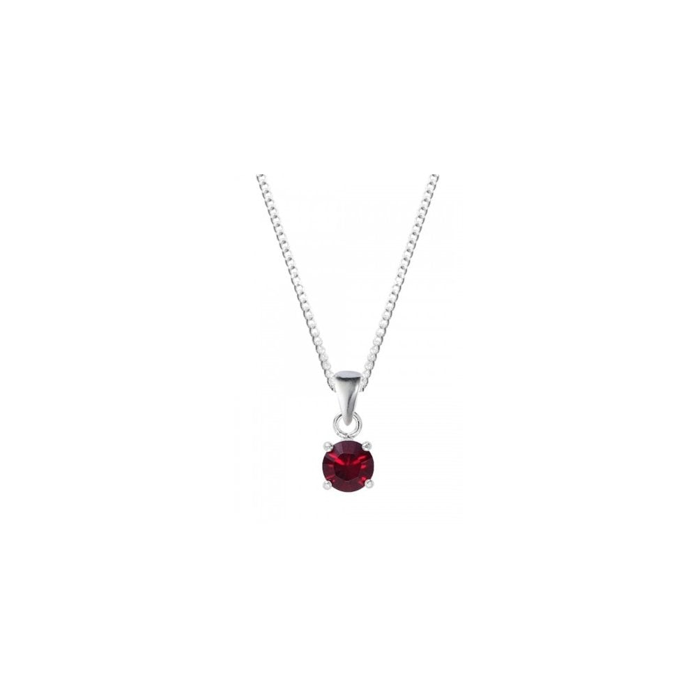 Featured Photo of Red July Birthstone Locket Element Necklaces