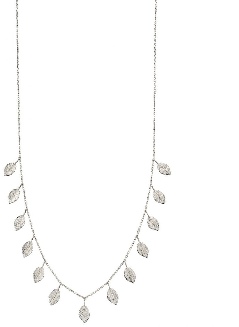 Silver Multi Leaf Necklace Regarding Current Bee Locket Element Necklaces (Gallery 25 of 25)