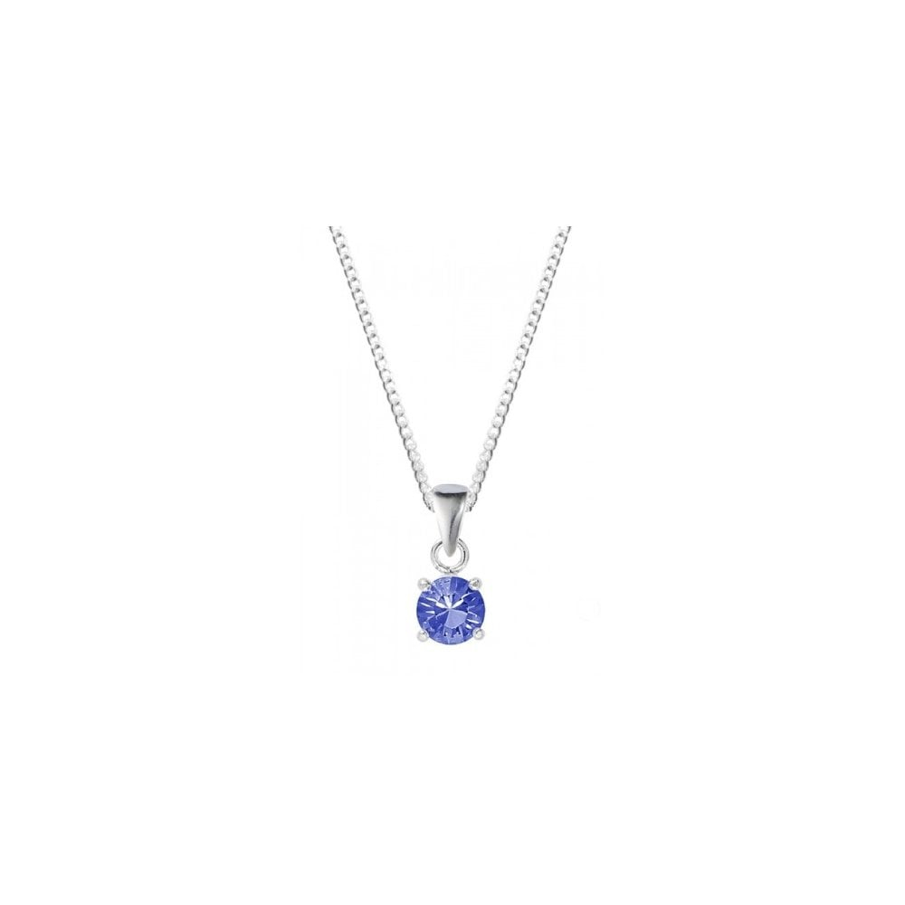 Silver September Birthstone Necklace With Swarovski Elements Inside Current London Blue December Birthstone Locket Element Necklaces (View 17 of 25)