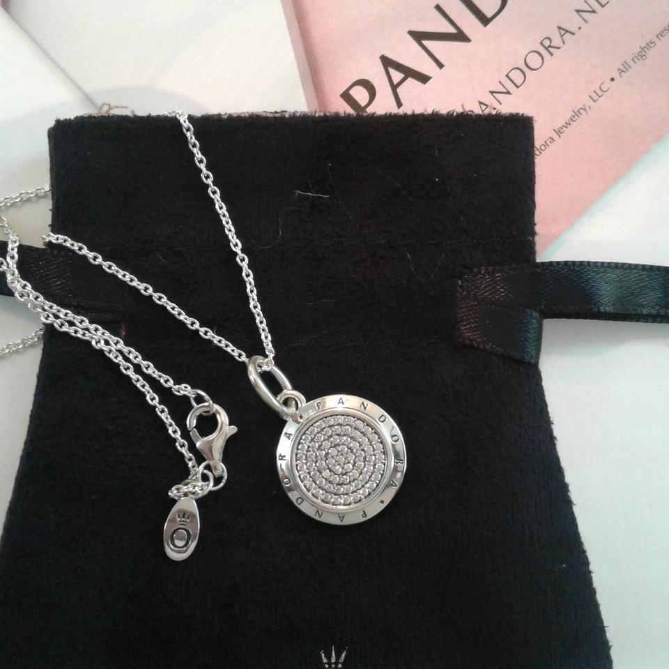 Silver Signature Necklace Pertaining To 2020 Pandora Logo Pavé Pendant Necklaces (View 9 of 25)