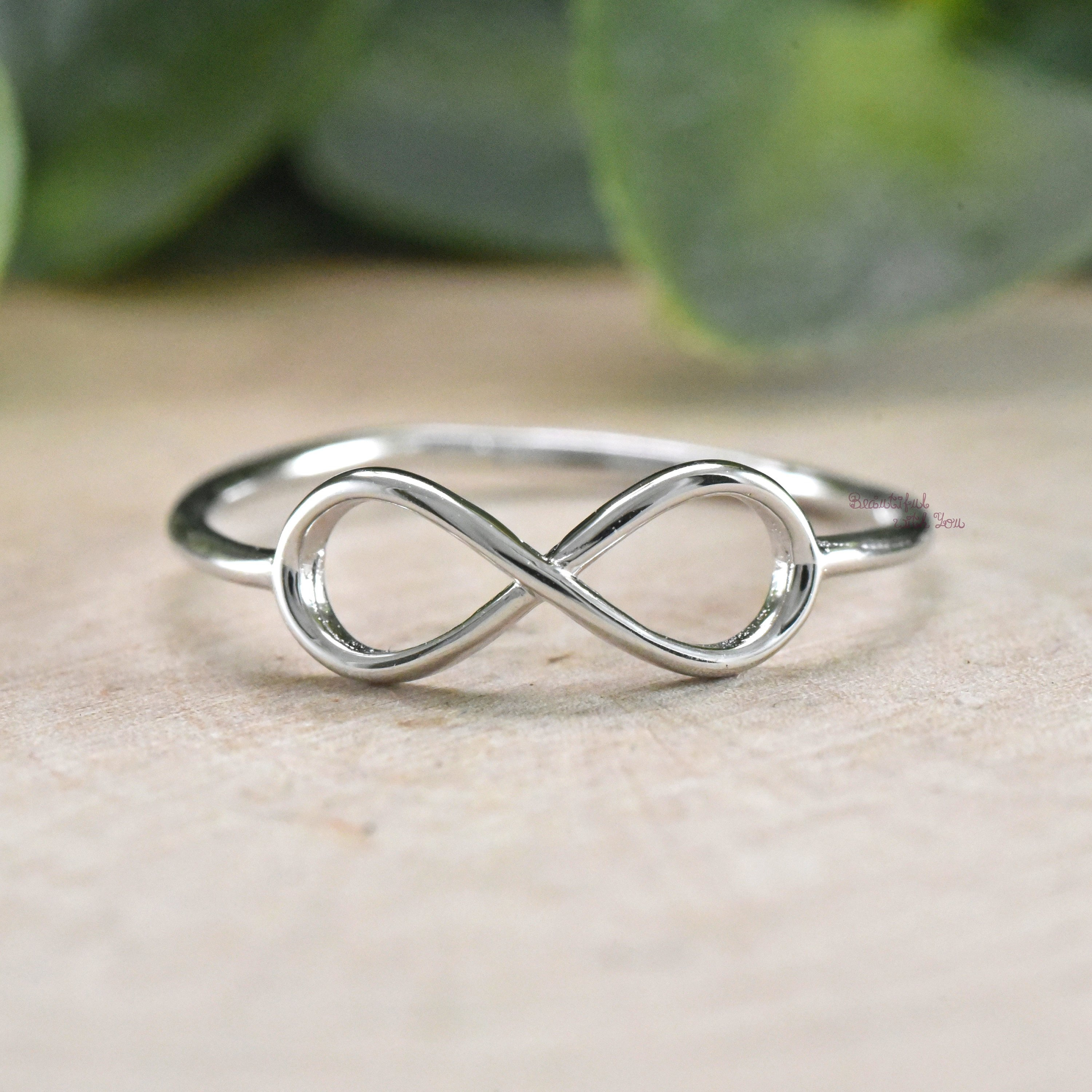 Simple Infinity Ring Silver, Infinity Ring, Womens Infinity Ring Silver,  Infinity Wedding Ring Womens, Infinity Ring For Her Girlfriend Throughout 2018 Simple Infinity Band Rings (Gallery 8 of 25)