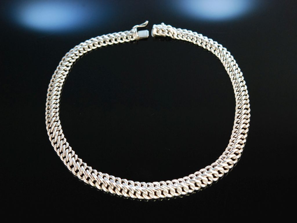 Sixties Vintage Silver Necklace! Schönes Statement Collier Throughout Most Current Vintage Circle Collier Necklaces (Gallery 22 of 25)