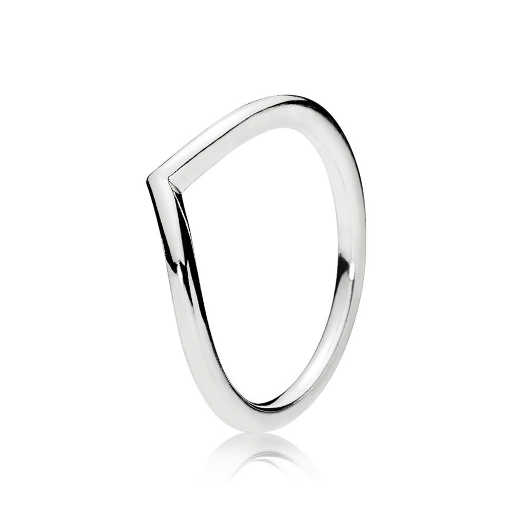 Sleek And Elegant, The Sterling Silver Lines Of This Wishbone Ring Inside Most Current Beaded Wishbone Rings (View 14 of 25)