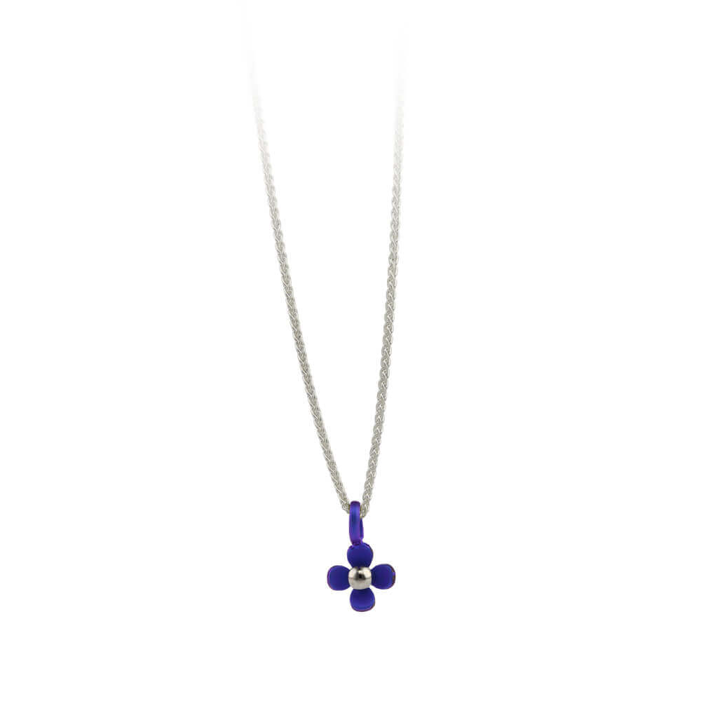 Small Four Petal Flower Titanium Pendant Necklace – Ti2 Titanium Pertaining To 2020 Four Petal Flower Necklaces (View 7 of 25)