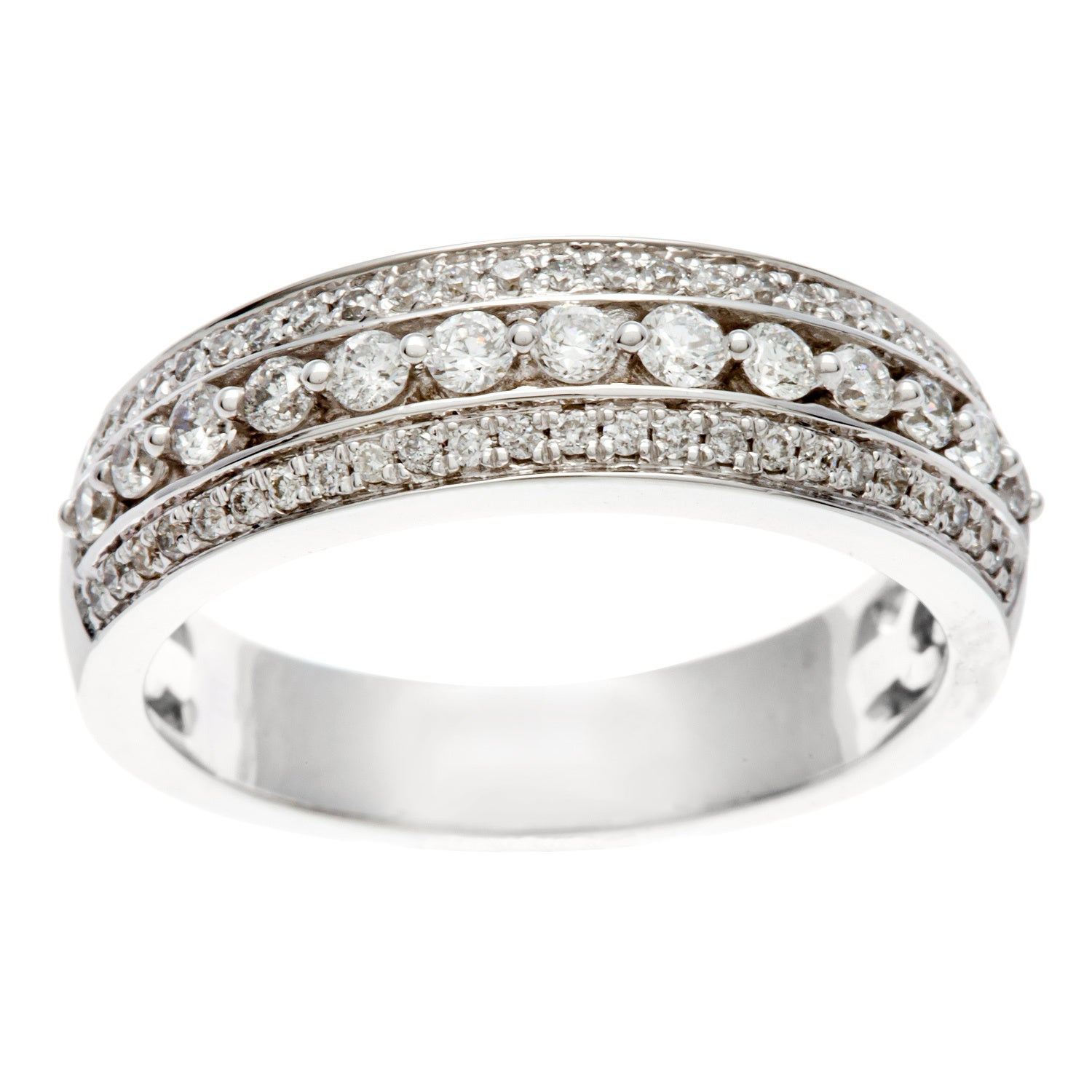 Sofia 14K White Gold 1/2Ct Tdw Igl Certified Diamond Anniversary Band Inside Newest Certified Diamond Anniversary Bands In Gold (View 23 of 25)