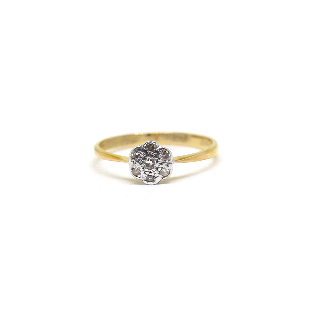 *sold* Art Deco Daisy Diamond Ring With 2017 Daisy Flower Rings (View 12 of 25)