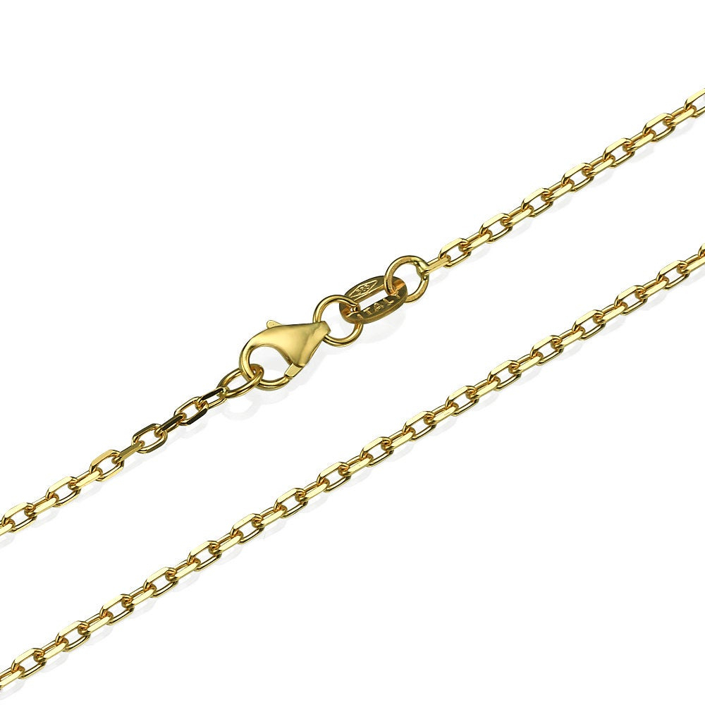 Solid 14K Gold Chain, 14K Yellow Gold Anchor Link Chain 1.7Mm, Solid Gold  Chain, 14K Gold Chain Necklace, Lobster Clasp, Made In Italy With Most Recent Classic Anchor Chain Necklaces (Gallery 7 of 25)