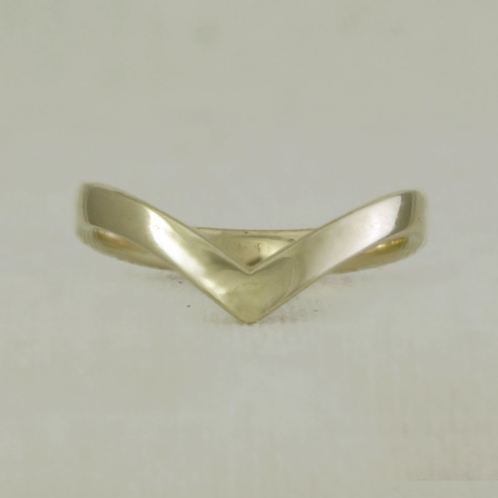Solid Gold Wishbone Ring For Recent Beaded Wishbone Rings (View 10 of 25)