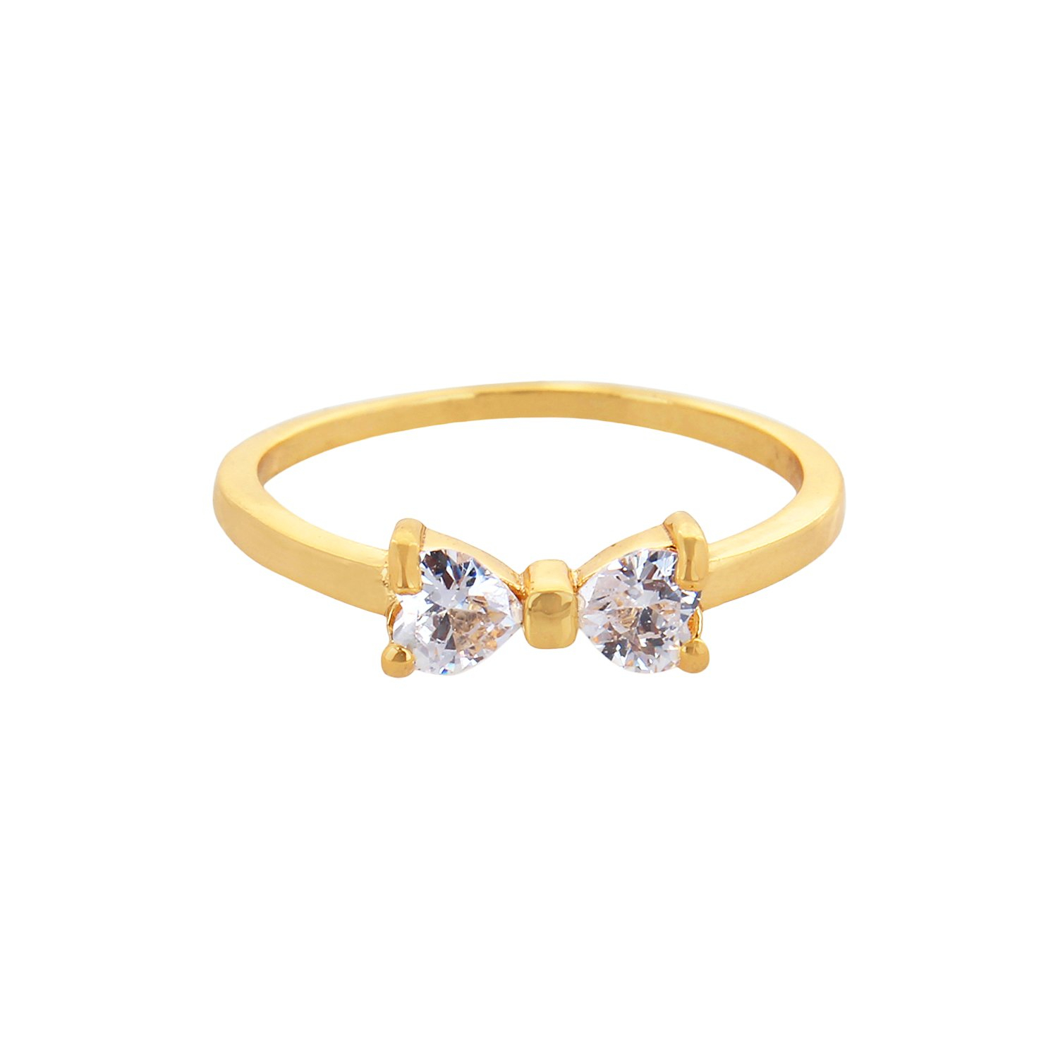 Solitaire Bow Ring Pertaining To Recent Classic Bow Rings (View 11 of 25)